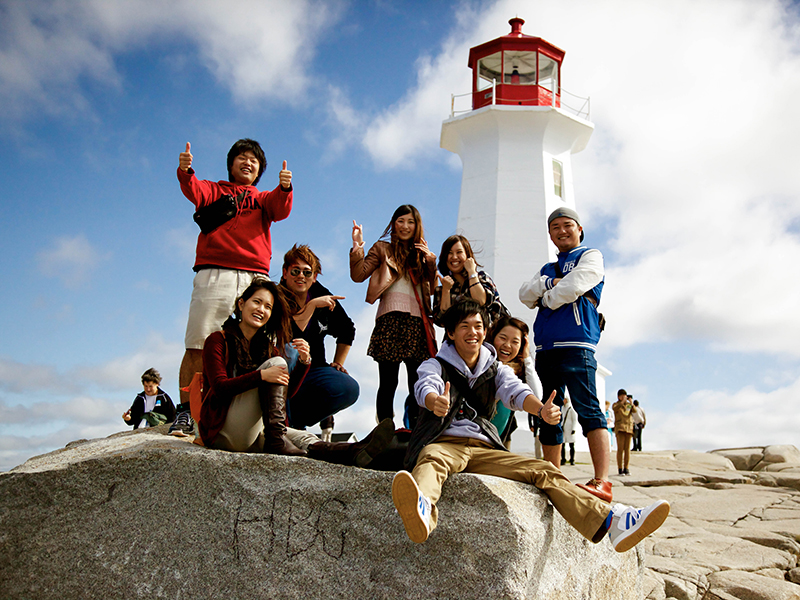 EAP students at Peggy's Cove