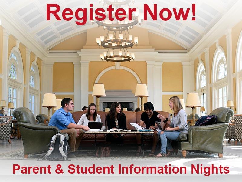Register now for Acadia's Parent & Student Information nights!