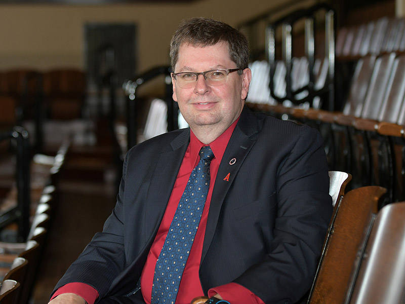 Dr. Dale Keefe in Convocation Hall