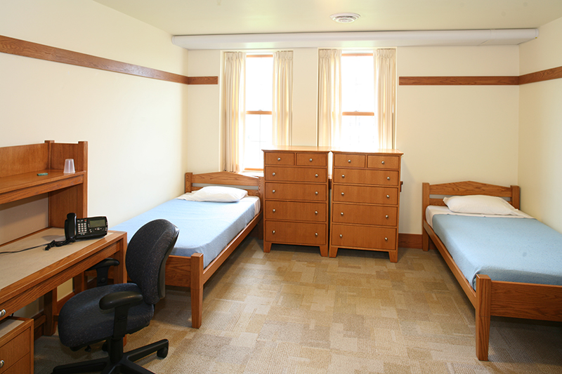 A standard residence room